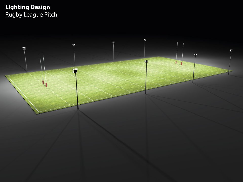 Rugby League Pitch Lighting Design